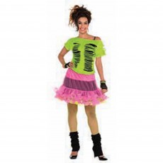 Awesome 80's Ripple T-Shirt Adult Costume Standard Size