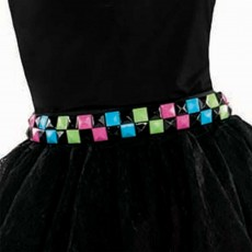 Awesome 80's Neon Tile Belt Costume Accessorie