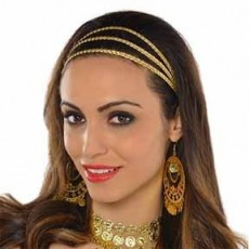 Gods & Goddesses Gold Braided Headband Costume Accessorie