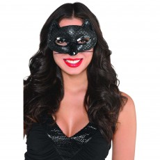 Black Fancy Cat Mask Head Accessorie