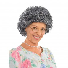 Fairytale Granny Curly Wig Head Accessorie