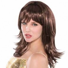 Brown Feather Shag Wig Costume Accessorie