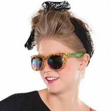 Awesome 80's Neon Flip Up Shades Head Accessorie