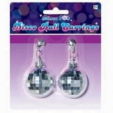 Disco & 70's Party Supplies - Disco Ball Earrings