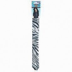 Awesome 80's Skinny Black & White Print Tie Costume Accessorie