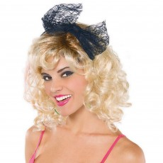 Awesome 80's Lace Headband with Bow Head Accessorie