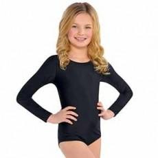 Black Body Suit Child Costume S/M Child Size