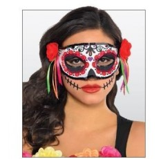 Halloween Day of the Dead Half Mask Head Accessorie