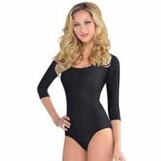 Black Body Suit Adult Costume M/L Adult Size