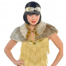 Great 1920's Furry Capelet Adult Costume Adult Standard Size