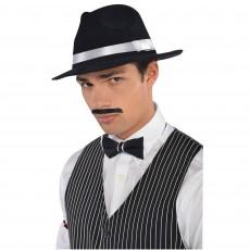 Roaring 20's Black Fabric Moustache Costume Accessorie