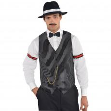 Roaring 20's Gangster Striped Vest Men Costume