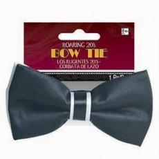 Roaring 20's Black & White Bow Tie Costume Accessorie