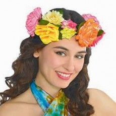 Feeling Groovy & 60's Party Supplies - Festival Deluxe Headwreath