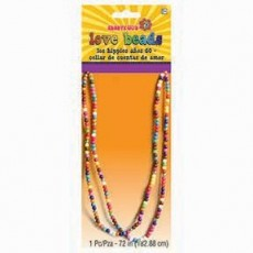 Feeling Groovy & 60's Party Supplies - Festival Love Beads Necklace