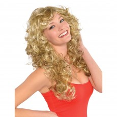Disco & 70's 70's Blonde Bombshell Wig Head Accessorie