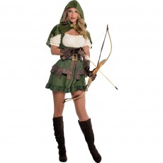 Robin Hoodie Women Costume - Size 10-12