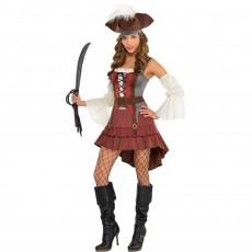 Castaway Pirate Women Costume - Size 16-18