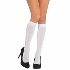 Fairytale White Knee Highs Adult Costume