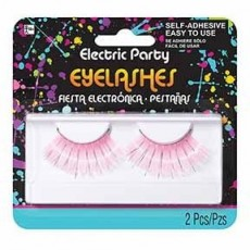Fairytale Pink & Silver Eyelashes Costume Accessories