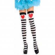 Fairytale Party Supplies - Adult Costume Heart & Striped Thigh High