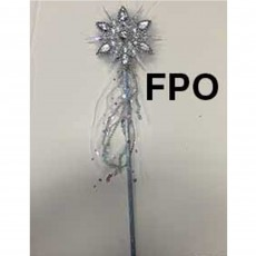 Disney Frozen Silver Snowflake Wand with Feather Costume Accessorie