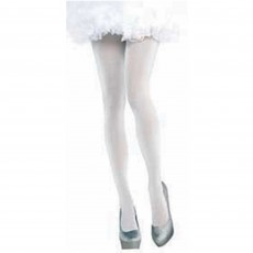 Fairytale White Shimmer Tights Adult Costume