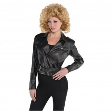 Rock n Roll Cropped Leather Jacket Adult Costume