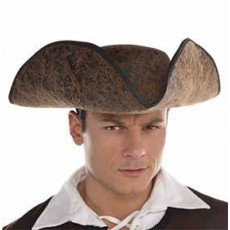 Pirate Brown Ahoy Matey Hat Costume Accessorie