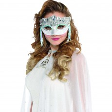 Mardi Gras Crystal Sparkle Mask Head Accessorie