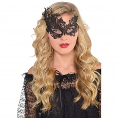 Black Party Supplies - Lace Mask ii