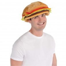 USA Cheeseburger Hat Costume Accessorie
