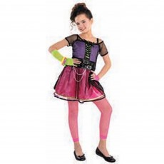 Awesome 80's Pop Star Dress Child Costume Standard Size