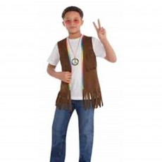 Feeling Groovy & 60's Long Hippie Vest Child Costume Child Size