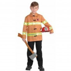 Careers Firefighter Jacket Boys Costume