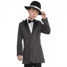 Roaring 20's Zootsuit Jacket & Mock Shirt Boys Costume