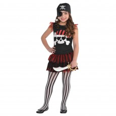 Pirate T-Shirt Dress Girls Costume