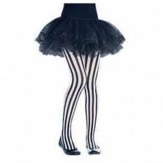 Pirate's Treasure Black & White Vertical Striped Tights Costume Accessorie