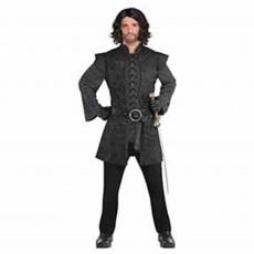 Gods & Goddesses Black Warrior Tunic Adult Costume