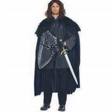 Gods & Goddesses Black Furry Cloak Adult Costume