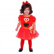 Sesame Street Elmo Girl Child Costume 18-24months