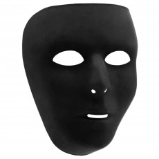 Black Party Supplies - Full Face Mask