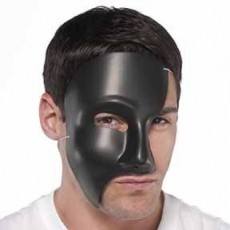 Halloween Black Phantom Mask Head Accessorie