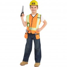 Under Construction Party Supplies - Child Costume Construction Worker