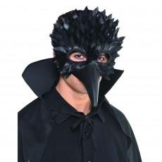 Mardi Gras Crow Feather Mask Head Accessorie