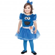 Sesame Street Cookie Monster Girl Child Costume 18-24months