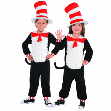 Dr Seuss Cat in the Hat Jumpsuit Child Costume