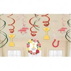 Horse Racing Assorted Swirls Hanging Decorations