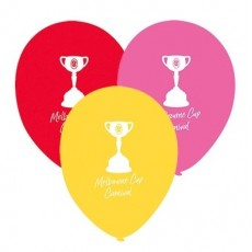 Horse Racing Red, Pink & Yellow  Latex Balloons