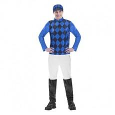 Horse Racing Men's Top & Hat Adult Costume Medium